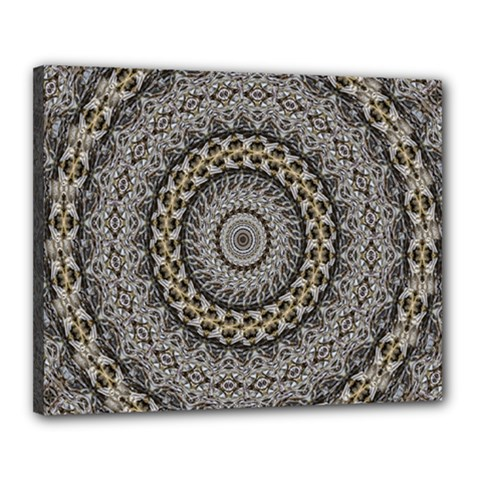 Celestial Pinwheel Of Pattern Texture And Abstract Shapes N Brown Canvas 20  x 16