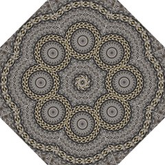 Celestial Pinwheel Of Pattern Texture And Abstract Shapes N Brown Folding Umbrellas