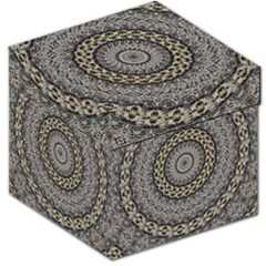 Celestial Pinwheel Of Pattern Texture And Abstract Shapes N Brown Storage Stool 12