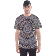 Celestial Pinwheel Of Pattern Texture And Abstract Shapes N Brown Men s Sport Mesh Tee