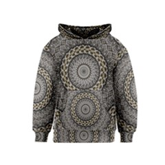 Celestial Pinwheel Of Pattern Texture And Abstract Shapes N Brown Kids  Pullover Hoodie