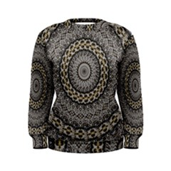 Celestial Pinwheel Of Pattern Texture And Abstract Shapes N Brown Women s Sweatshirt