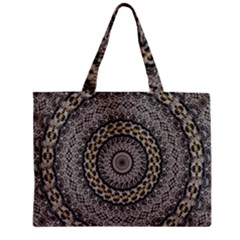 Celestial Pinwheel Of Pattern Texture And Abstract Shapes N Brown Zipper Mini Tote Bag