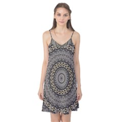Celestial Pinwheel Of Pattern Texture And Abstract Shapes N Brown Camis Nightgown