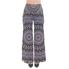 Celestial Pinwheel Of Pattern Texture And Abstract Shapes N Brown Pants