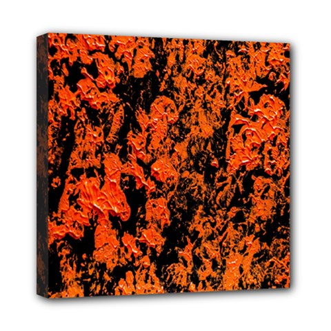 Abstract Orange Background Mini Canvas 8  x 8