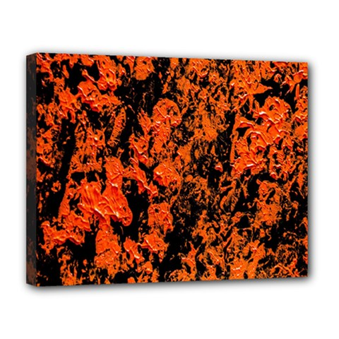 Abstract Orange Background Canvas 14  x 11