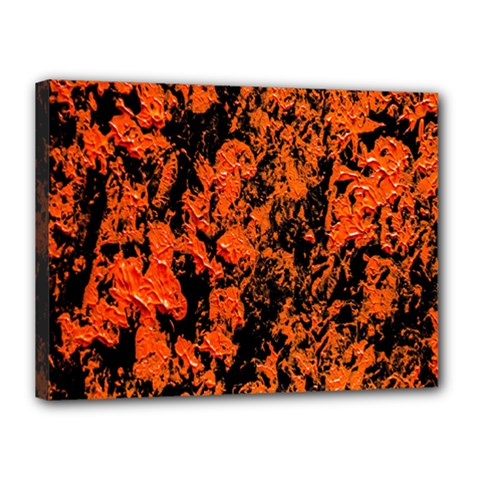 Abstract Orange Background Canvas 16  x 12