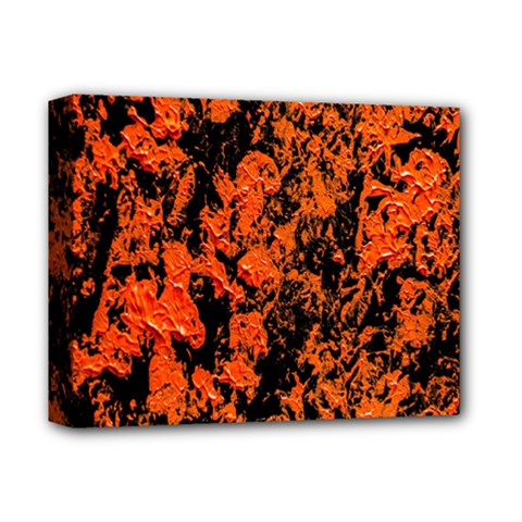 Abstract Orange Background Deluxe Canvas 14  X 11