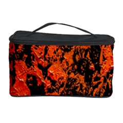 Abstract Orange Background Cosmetic Storage Case