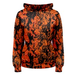 Abstract Orange Background Women s Pullover Hoodie