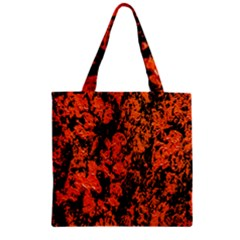 Abstract Orange Background Zipper Grocery Tote Bag