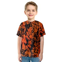 Abstract Orange Background Kids  Sport Mesh Tee