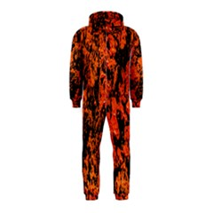 Abstract Orange Background Hooded Jumpsuit (Kids)
