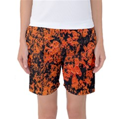 Abstract Orange Background Women s Basketball Shorts