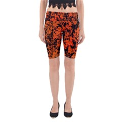 Abstract Orange Background Yoga Cropped Leggings