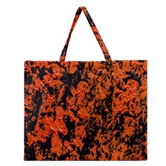 Abstract Orange Background Zipper Large Tote Bag