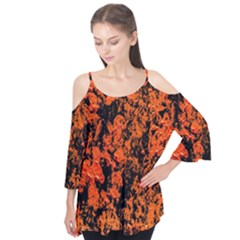 Abstract Orange Background Flutter Tees