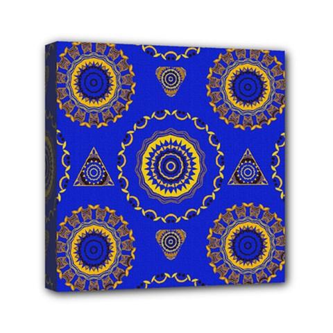 Abstract Mandala Seamless Pattern Mini Canvas 6  X 6