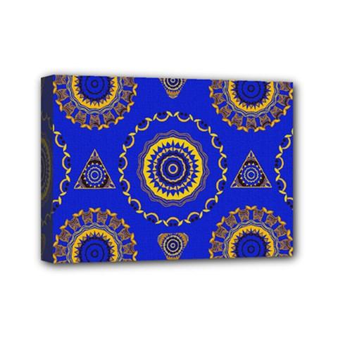 Abstract Mandala Seamless Pattern Mini Canvas 7  X 5