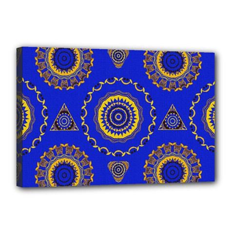 Abstract Mandala Seamless Pattern Canvas 18  X 12