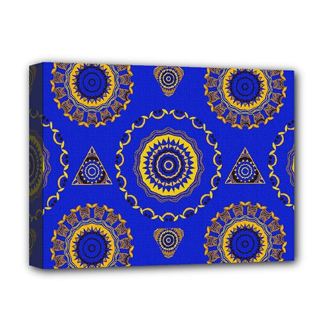 Abstract Mandala Seamless Pattern Deluxe Canvas 16  x 12