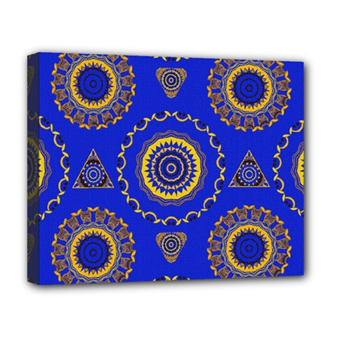 Abstract Mandala Seamless Pattern Deluxe Canvas 20  x 16
