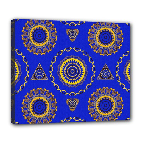 Abstract Mandala Seamless Pattern Deluxe Canvas 24  X 20