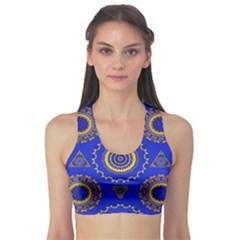 Abstract Mandala Seamless Pattern Sports Bra