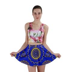 Abstract Mandala Seamless Pattern Mini Skirt