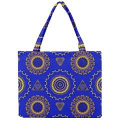 Abstract Mandala Seamless Pattern Mini Tote Bag