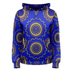 Abstract Mandala Seamless Pattern Women s Pullover Hoodie