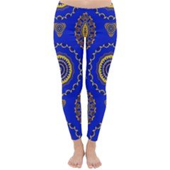Abstract Mandala Seamless Pattern Classic Winter Leggings
