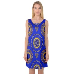 Abstract Mandala Seamless Pattern Sleeveless Satin Nightdress