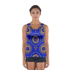 Abstract Mandala Seamless Pattern Women s Sport Tank Top