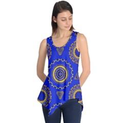 Abstract Mandala Seamless Pattern Sleeveless Tunic