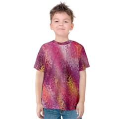 Red Seamless Abstract Background Kids  Cotton Tee