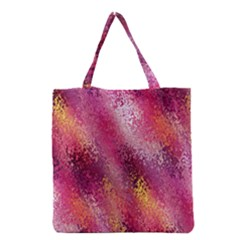 Red Seamless Abstract Background Grocery Tote Bag