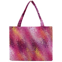 Red Seamless Abstract Background Mini Tote Bag