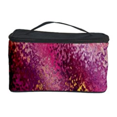 Red Seamless Abstract Background Cosmetic Storage Case
