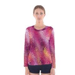 Red Seamless Abstract Background Women s Long Sleeve Tee