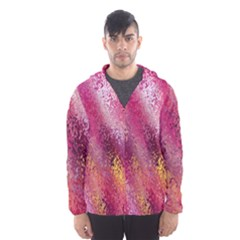 Red Seamless Abstract Background Hooded Wind Breaker (Men)