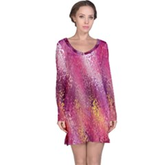 Red Seamless Abstract Background Long Sleeve Nightdress