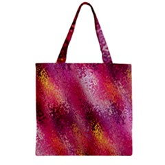 Red Seamless Abstract Background Zipper Grocery Tote Bag