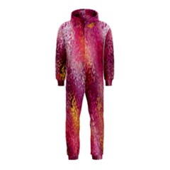 Red Seamless Abstract Background Hooded Jumpsuit (Kids)