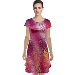 Red Seamless Abstract Background Cap Sleeve Nightdress