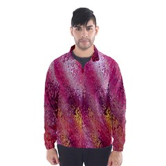 Red Seamless Abstract Background Wind Breaker (Men)