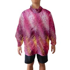 Red Seamless Abstract Background Wind Breaker (Kids)