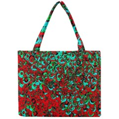 Red Turquoise Abstract Background Mini Tote Bag