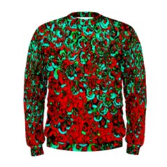 Red Turquoise Abstract Background Men s Sweatshirt